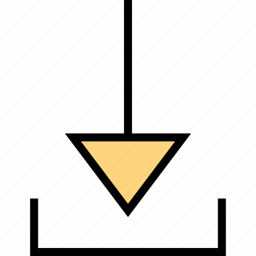 arrow, direction, download, pointer icon