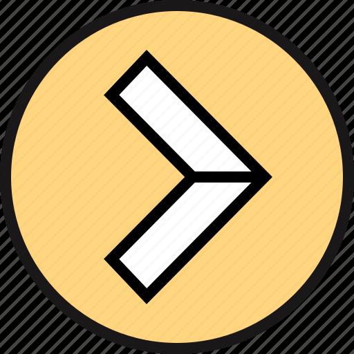 arrow, go, pointe icon