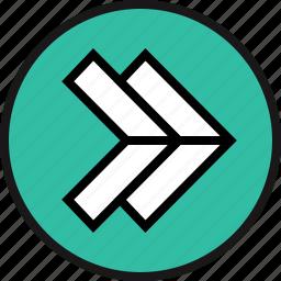 arrow, interface, right icon
