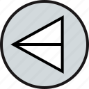 arrow, interface, wired icon