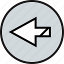 arrow, exit, left icon