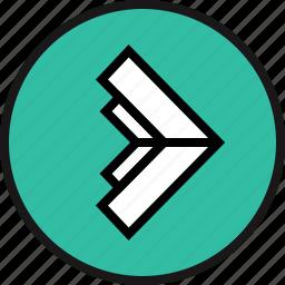 arrow, poine, right icon