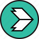 arrow, bold, right icon