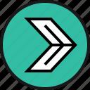 go, next, right icon