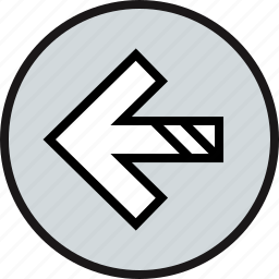 arrow, bold, sleek icon