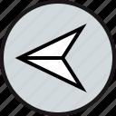 arrow, previous, sleek icon