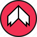 arrow, bold, up icon