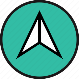 arrow, go, up icon