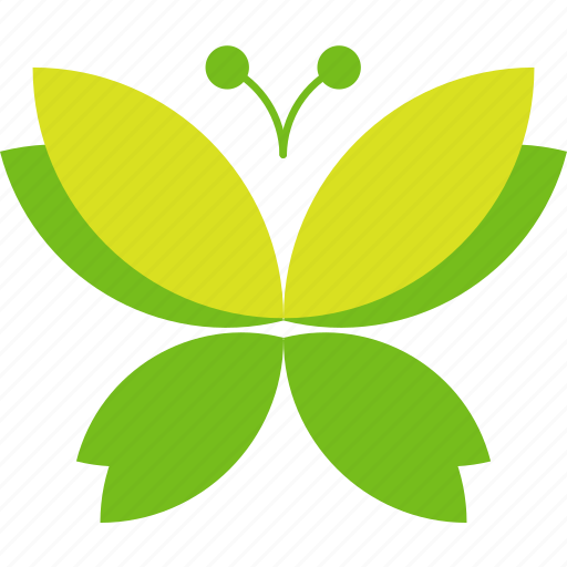 butterfly, ecology, green, leaves icon