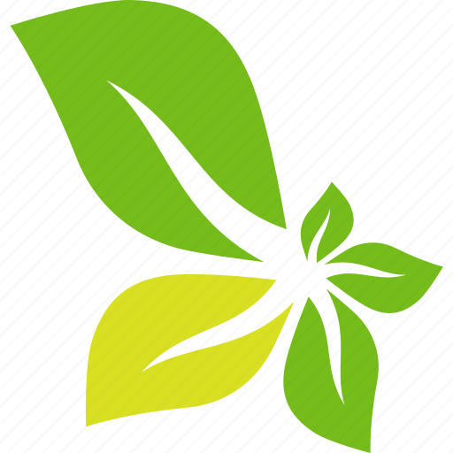 abstract, flower, green, leaves icon