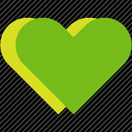 green, heart, love, nature icon