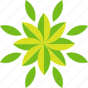 abstraction, flower, leaves icon