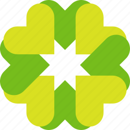 eco, flower, green, hearts icon