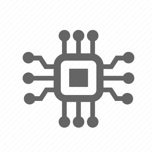 Electronic, chip, component, electronics, technology, processor icon