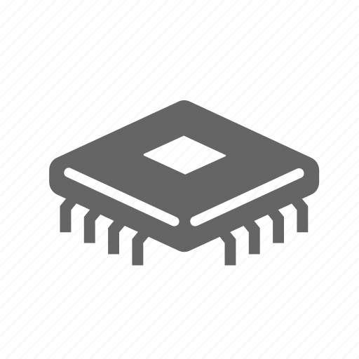 chip, component, electronic, processor, technology icon