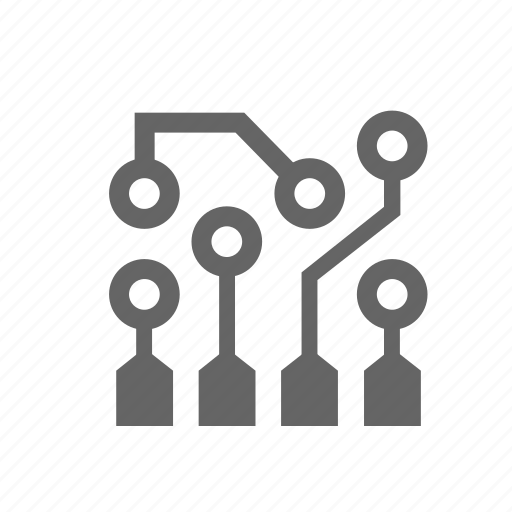 abstract, board, circuit, computer, device, electronics, technology icon