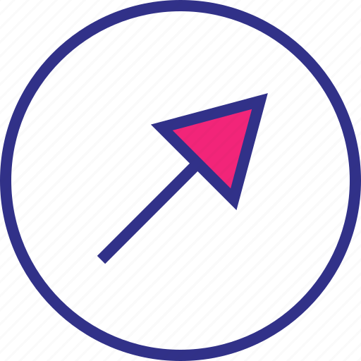 arrow, point, pointer, up icon