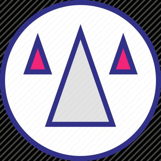 arrows, cones, pointing, up icon