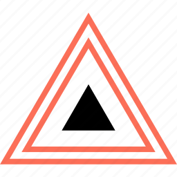 abstract, creative, design, triangle icon