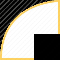 abstract, corner, creative, curve, design, square icon