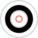 abstract, bullseye, center, creative, design, eye icon