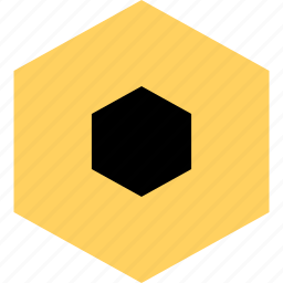 abstract, center, creative, design, eye, hexagon icon