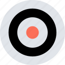 abstract, center, creative, design, eye, target icon