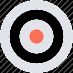abstract, center, creative, design, eye, target icon