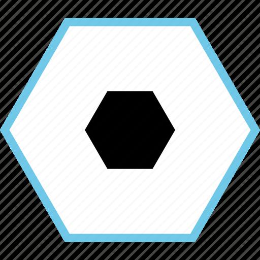 abstract, center, creative, design, hex, hexagon icon