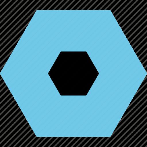 Abstract, center, creative, design, eye, hexagon icon - Download on Iconfinder