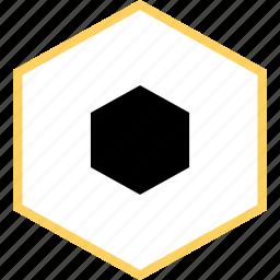 abstract, creative, design, hexagon, saturn icon