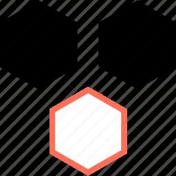 abstract, creative, design, hex, hexagons, hexs icon