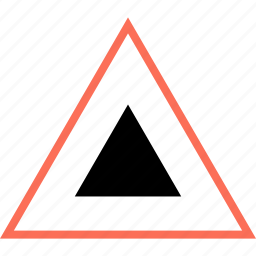 abstract, creative, design, triangle, up icon