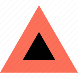 abstract, creative, design, triangle, up, upload icon