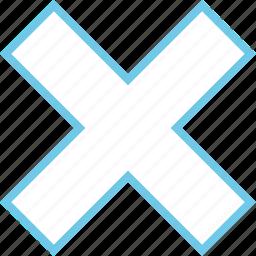 abstract, creative, delete, design, x icon