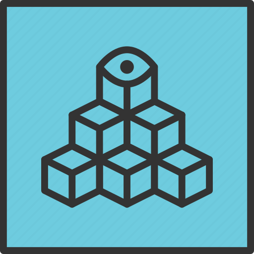 Abstract, cubic, eye, geometry, puzzle, shape, tribal icon - Download on Iconfinder