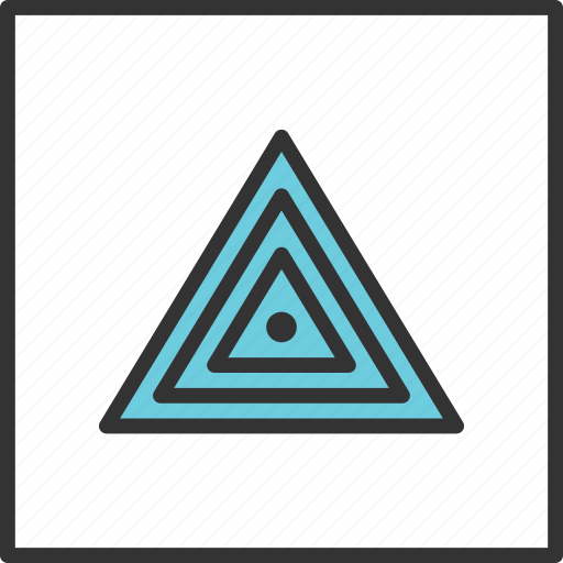 Abstract, eye, geometric, shape, triangle, tribal icon - Download on Iconfinder