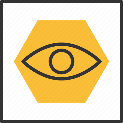 Abstract, eye, geometric, hexagon, shape, tribal icon - Download on Iconfinder