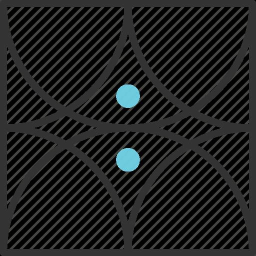 abstract, eye, geometric, shape, tribal icon