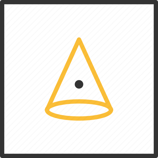 Abstract, cone, eye, funnel, geometric, shape, tribal icon - Download on Iconfinder