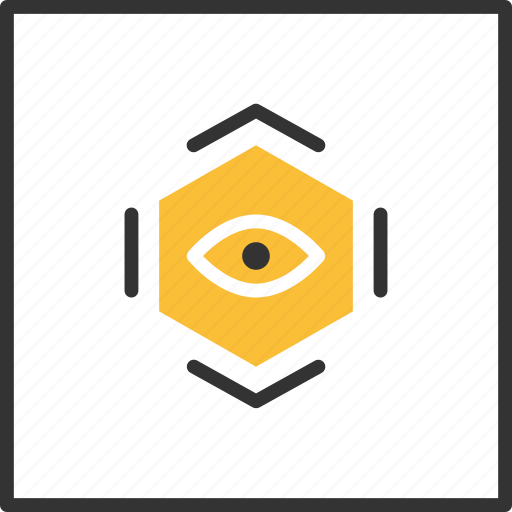Abstract, eye, geometric, shape, tribal icon - Download on Iconfinder