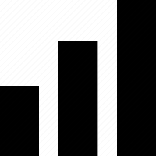 abstract, bars, data icon