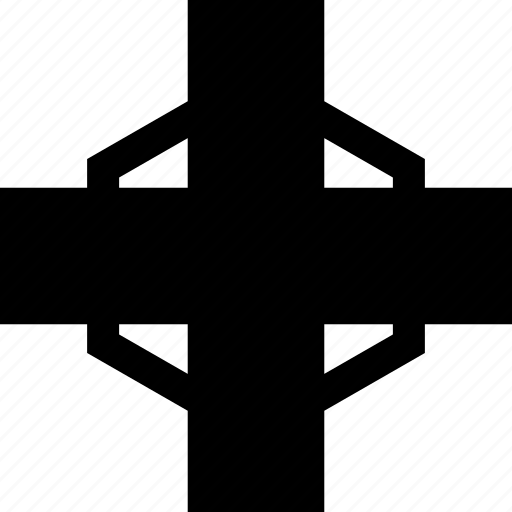 abstract, creative, cross, line icon