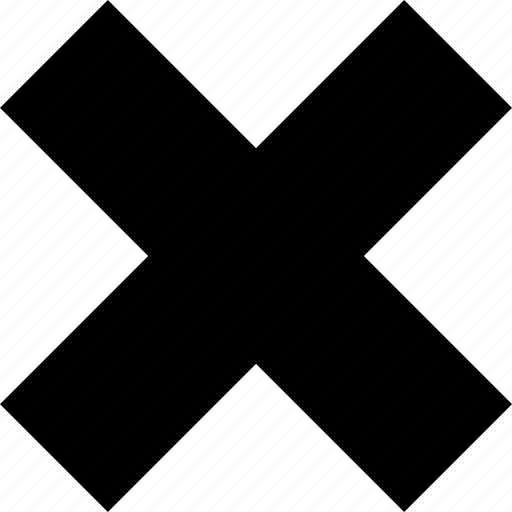 abstract, cross, delete, x icon