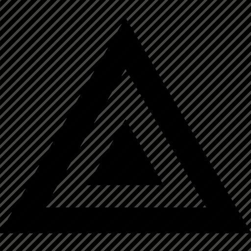 abstract, angle, pyramid icon