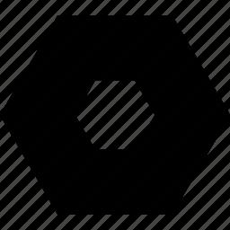 abstract, hexagon, sign icon