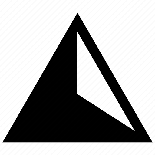 abstract, angle, triangle icon