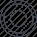 abstract, center, creative, design, eye, goal icon