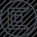 abstract, creative, cube, design, edge icon