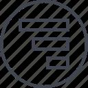abstract, bars, creative, data, design, graph icon
